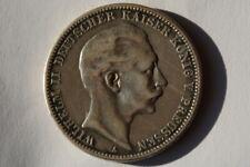 Org. 3 RM Silbermünze Wilhelm II 1909 Prägestätte:A - Ansehenlohnt!!!