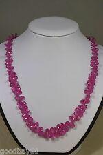 Saphir Kette Collier 167ct.!! pink Edelstein Classic Schmuck Heilstein Halskette