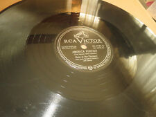 78RPM RCA Victor Sons Pioneers, America Forever / Little White Cross nice V+ E-