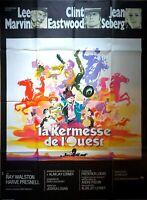 Plakat Kino La Kirmes, WESTERN, Clint Eastwood Lee Marvin - 120 X 160 CM