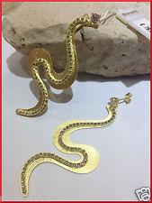 orecchini pendenti donna stroili metallo dorato anallergico e cristalli serpente