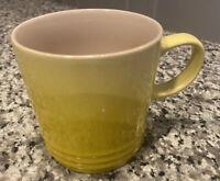 Le Creuset Ombré Flame Yellow 12 Oz Coffee Mug Tea Cup Stoneware *NEW*