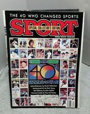 New listing Sport Magazine December 1986 40 Who Changed Sports with label