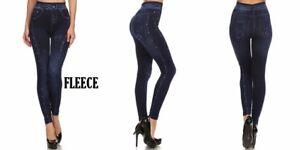 High Waist JEGGING JEAN Leggings pants skinny FLEECE SOFT Sexy 847PT150