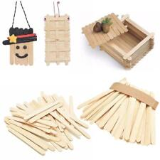 50x Wooden Ice-lolly Stick Kids Handmade Craft DIY Making House Ice Cream Sticks