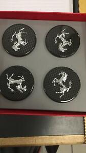 Ferrari F430 458 California 488 Carbon Fiber Wheel Center cap Set x 4