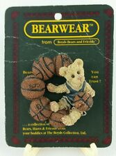 Boyds Bears Brooch Pin Basketball Sporty Bear Resin 26100 New Vintage Lapel