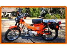 1974 Honda Trail CT 90 Motorcycle Orange Refrigerator / Tool Box Magnet