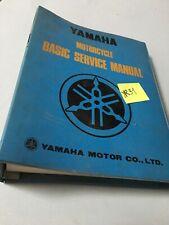 YAmaha guide technique base mécanique moto manuel atelier mécanicien RARE