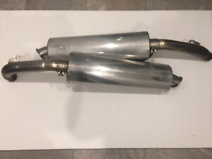 Viper Alloy Oval Exhaust Cans And Link Pipes Honda VTR 1000 Firestorm