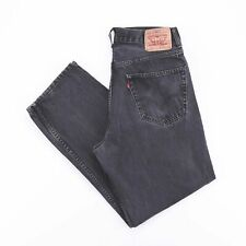 Vintage LEVI'S 550 Relaxed Straight Fit Men's Faded Black Jeans W34 L32