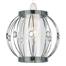 Modern Non Electric Globe Pendant Metal & Acrylic | Bead Detail | ART DECO STYLE