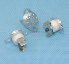 5pcs Manual Reset Temperature Switch 100 °C NC Bimetal Disc KSD301 Ceramic Body