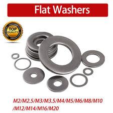 M2/M2.5/M3/M5/M6/M8/M10/M12/M20Flat Washers Steel For Metric Bolts/Screws