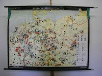 Schulwandkarte Wandkarte Deutsches Reich Deutschland Bergbau Industrie 153x115cm