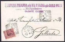 VARESE OLGIATE OLONA 03 STAMPERIA PREALPINA o VAL D'OLONA o CARLO POZZI 1905
