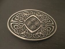 CELTIC KNOT OVAL New BELT BUCKLE Scottish Irish Silver Colour Metal