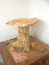 Teak Tree Root Side Table Coffee Carved Wood Reclaimed Plant Cake Stand No.1