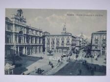 CATANIA Piazza Università Giuseppe Avolio TRAM tramway vecchia cartolina