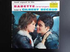 Disque 45 T Babette s'en va t en guerre Gilbert Becaud Brigitte Bardaud