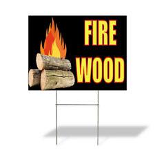 Weatherproof Yard Sign Fire Wood Outdoor Advertising Printing Black Lawn Garden