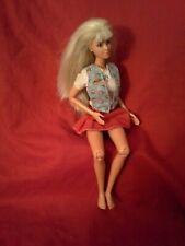 BARBIE  LONG Blond HAIR ~ w/ ,Articulated Knees & Elbows   ~ PIVOTAL~ earrings