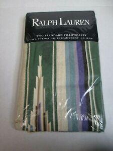 New Ralph Lauren DESERT SPRING Green Southwest 2 Standard Pillowcases