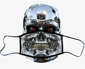 Terminator Face Washable Reusable Covering Mask