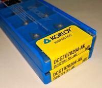 KORLOY DCGT 21.51-AK / DCGT 070204-AK H01 Carbide Inserts for Aluminum (10 PCS)