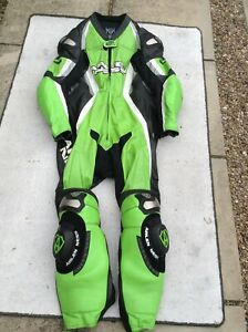 arlen ness titanium kangaroo one piece leather race suit with hump size uk 48