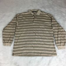 Tommy Hilfiger  Men's Patterned Long Sleeve Polo Size XL (B1)