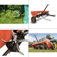 48 in. tow plug aerator | lawn universal soil tractor hitch yard behind tool new
