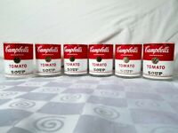 Campbell's Tomato Soup Old Fashioned Glasses Tumbler Vintage 1960's Set of 6