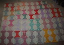 """Vintage Bowtie Quilt Squares Lot of 19 Machine Stitched Quilt Squares 13"""""""