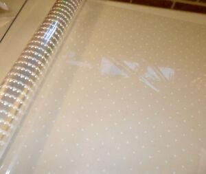 White Dot Cellophane Hamper Gift Wrap Choose your length 1 Meter - 100 Meters