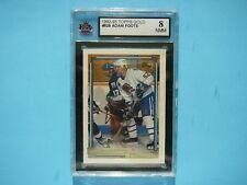 1992/93 TOPPS NHL HOCKEY GOLD CARD #528 ADAM FOOTE ROOKIE KSA 8 NM/MT SHARP!!