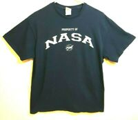PROPERTY OF NASA Adult Size LG Dark Blue T Shirt VINTAGE 90s Delta Pro Weight