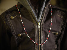 Jim Morrison 'Young Lion' 1967 red and bone bead necklace replica by Kiribeads