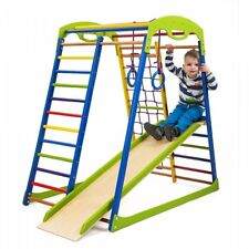 Kids Playground Indoor Pyramid Climbing Frame Playset Slide Rocket Sport Corner