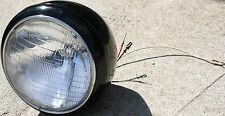 Used Custom Build Chopper Bobber Black Headlight Lamp Kafe Racer Rat Rod (U-22)
