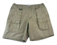 Z Columbia Mens Cargo Shorts Size Large Tan Beige Cotton Canvas 7 Pocket
