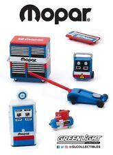 1:64 GreenLight *MOPAR Parts & Services* Garage Shop Tools Accessory Set *NIP*