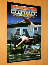 Backyard Wrestling Don't Try This at Home Old Advertising Small Poster Promo AD