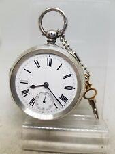 Antique solid silver gents Waltham mass pocket watch c1891 working ref1069