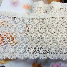 Embroidered Cotton Crochet Lace Trim Vintage Style 14cm Wide 1Yd