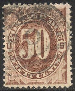 U.S. #J21 Used - 50c Red Brown, Postage Due ($250)