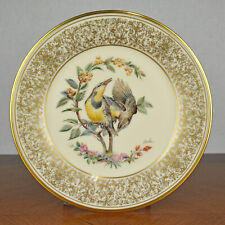 Vintage Limited Edition Lenox Plate Meadowlark Boehm Birds Collection 1973