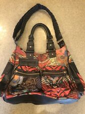 Desigual Handbag London Yylon Stripes Bag Happy Rainbow Multicolor Crossbody