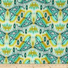 1YD Tula Pink EDEN ATLAS MOTH Butterfly Wings Aqua Blue Insect Nature pwtp0709 S