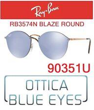 Occhiali da Sole RAYBAN RB 3574N 90351U Sunglasses Ray Ban BLAZE ROUND FLAT LENS